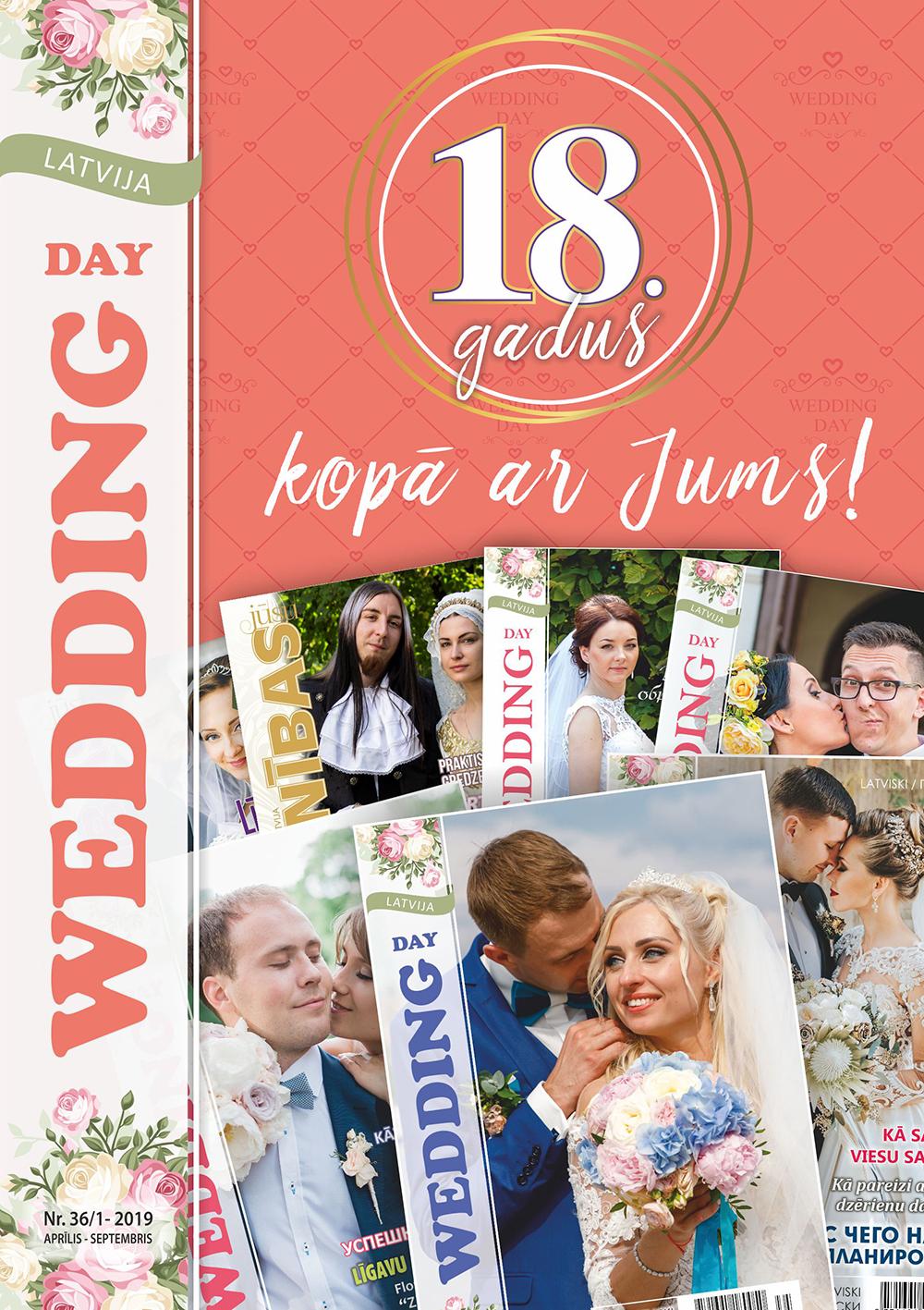 kāzu žurnals WEDDING DAY LATVIJA