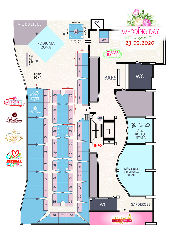 план свадебной выставки WEDDING DAY EXPO LATVIJA 2020