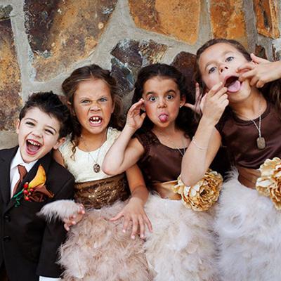 Дети на свадьбе: с заботой о маленьких гостях